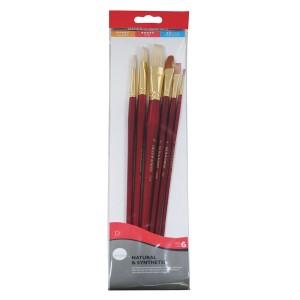 Simply Oil Mix Brush Set 6Pc