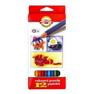 "Set Of  Coloured Pencils  ""Dogs&Cats"" 12"