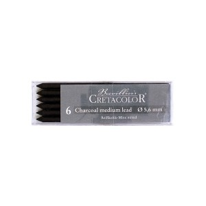 Charcoal Medium 6Pcs, Set D-5,6Mm Cretacolor