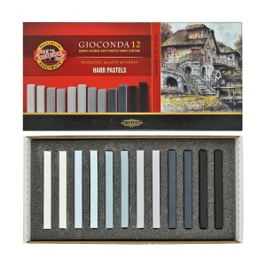 "Sets Of Hard Pastels ""Gioconda"" Grey, Koh-I-Noor"