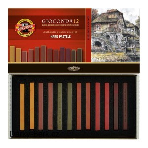"Sets Of Hard Pastels ""Gioconda"" Brown, Koh-I-Noor"