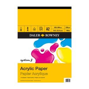 "System 3 Acrylic Pad A2 ""Daler-Rowney"""