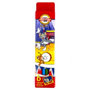 "Set Of Coloured Pencils  6Pcs ""Tom&Jerry"""