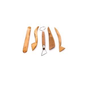 """Wooden Pottery Tools, 5Pcs/Set, 8"""""""