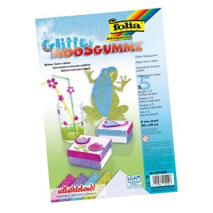 Glitter Foam 5Sheets 20X29Cm.Folia