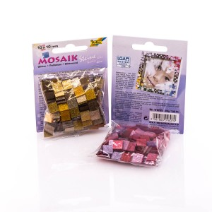 Mosaic GLITTER MIX 10x10mm, 190 pcs