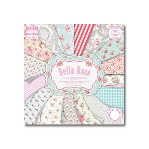 Paper and Cardstock pads 30x30cm,Bella Rose