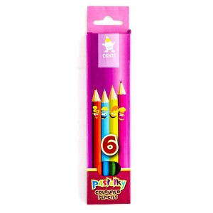 "Set Of School Col.Pencils ""Centi""  6Pcs"