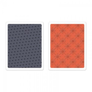 -50% Textured Impressions Embossing Folders 2Pk - Yulet