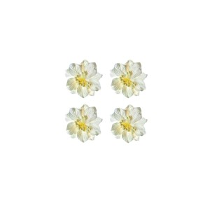 Gardenia White, Set 4 Pcs, Dia 5Cm
