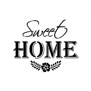 "All-Purpose Stencil A4 ""Sweet Home"""