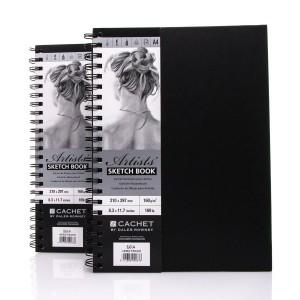 Sketchbook CACHET ARTIST?S A4,40sh,160g/m , Daler-Rowney,Black