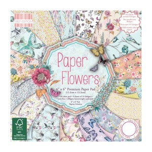 Paper and Cardstock pads 15x15cm,Paper Flowers