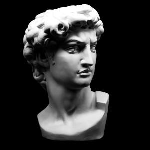 Plaster Cast David. Michelangelo