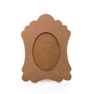 Oval Photoframe With Waved Edeges - Size Cm. 17X23
