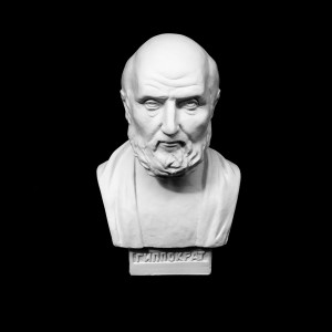 Plaster Cast The Bust Of Hippocrates