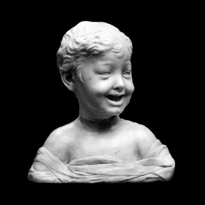 Plaster Cast The Bust Of Laughing Boy