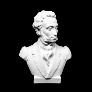 Plaster Cast The Bust Of Pushkin