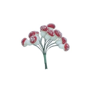 Mushroomwith Beads In The Bundle, 12 Pcs