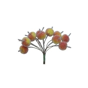 Apples With Beads, Red, 12Pcs