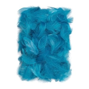Feathers 5-12 Cm, 10 G Turquoise