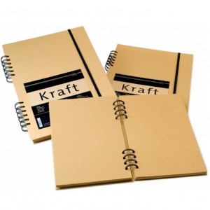 "Sketch Book ""Kraft Paper"", 120g/m2, DIN A4 80 shee"