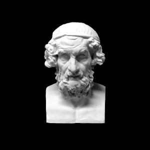 Plaster Cast The Head Of Homeros