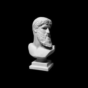 Plaster Cast The Head Of Zeus