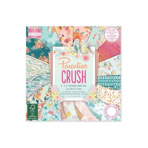 Paper and Cardstock pads 15x15cm, Paradise Crush