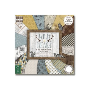 Paper and Cardstock pads 20x20cm, Wild At Heart