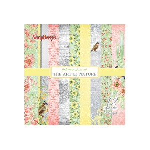 "Scrapbooking paper set 6""*6"" The Art of Nature 190"