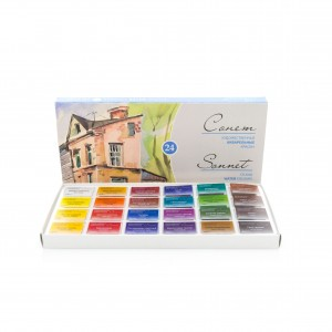 "Water colours set ""Sonet"" 24pcs, St.-Peterburg"