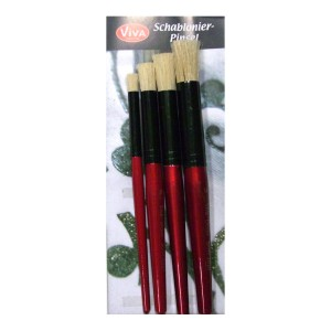 Sablon Brushes Set ( 4 Pcs) Viva Decor