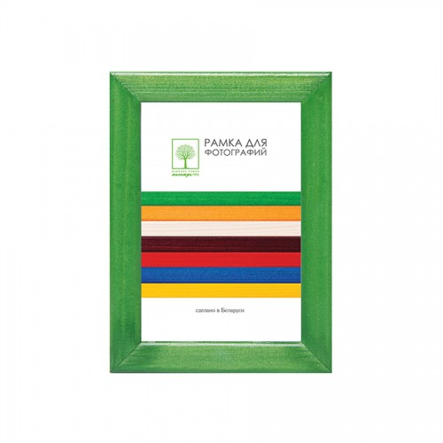 Wooden frame with glass 10х15 D8KL/3741 (green)