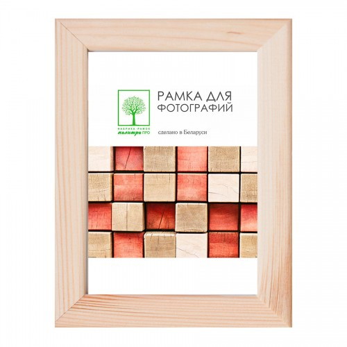 Wooden frame with glass 10х15 D18С