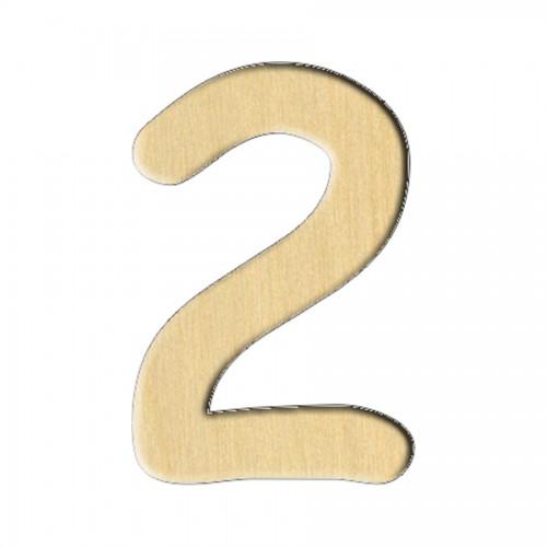 """Wooden pc. for art 112 """"Number 2"""" 2х3 cm"""
