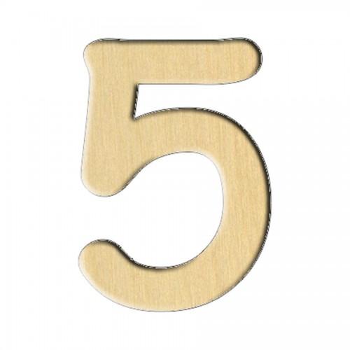 """Wooden pc. for art 115 """"Number 5"""" 2,1х3 cm"""