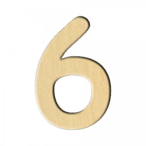 """Wooden pc. for art 116 """"Number 6"""" 2х3 cm"""