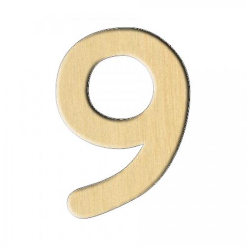 """Wooden pc. for art 119 """"Number 9"""" 2,1х3 cm"""