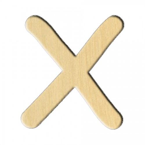 "Wooden pc. for art 176 ""Letter Х (russ.)"" 6,3х7 cm"