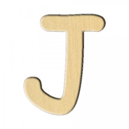 """Wooden pc. for art 232 """"Letter J (eng.)"""" 5,6х7 cm"""