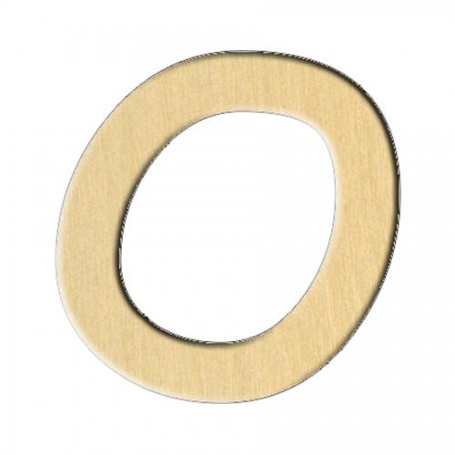 """Wooden pc. for art 237 """"Letter O (eng.)"""" 6,8х7 cm"""