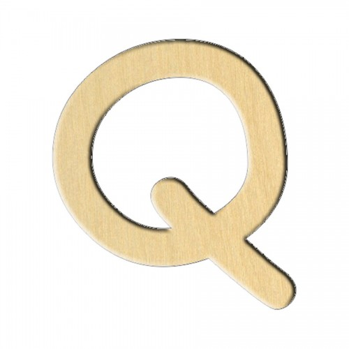 """Wooden pc. for art 239 """"Letter Q (eng.)"""" 7,4х8,2 cm"""