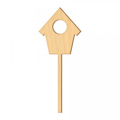 """Wooden pc. for art 373 """"Birdhouse"""" 7,5х18 cm"""