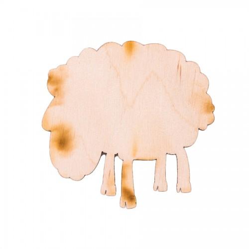 """Wooden pc. for art 384 """"Sheep"""" 8х8 cm"""