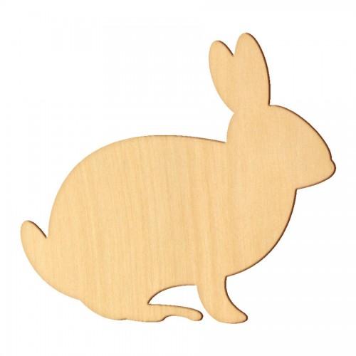 """Wooden pc. for art 393 """"Bunny № 3"""" 10х9,5 cm"""