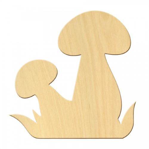 """Wooden pc. for art 428 """"Mushrooms"""" 10*10 cm"""