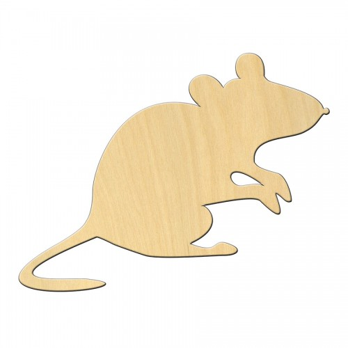 "Wooden pc. for art 473 ""Mouse"" 11,7*9 cm"