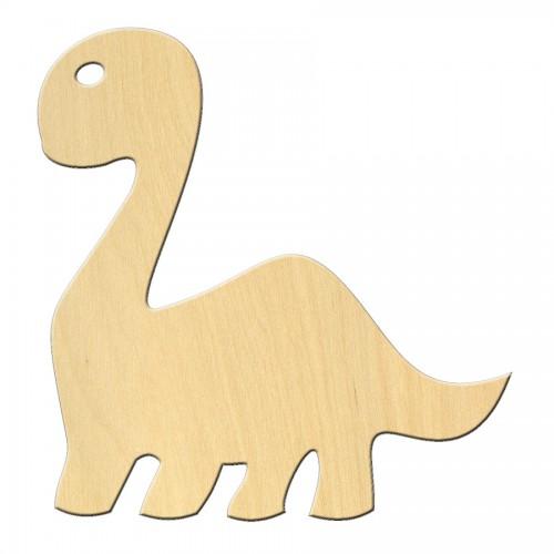 """Wooden pc. for art 502 """"Dinosaur №2"""" 9,6х10 cm"""