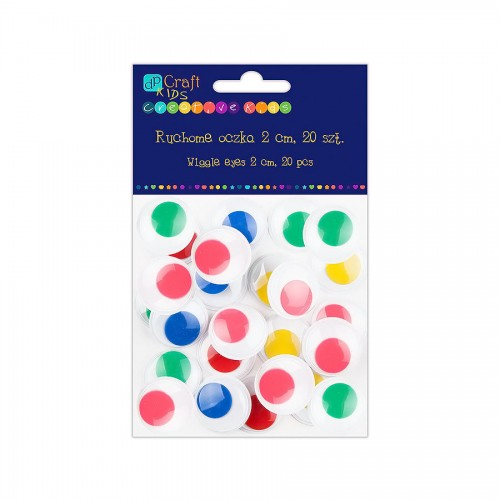 Adhesive Wiggle Eyes 2 Cm - Colour, 20 Pcs